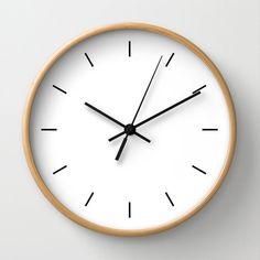 Available in natural wood, black or white frames, our 10 diameter unique Wall Clocks feature a high-impact plexiglass crystal face and a