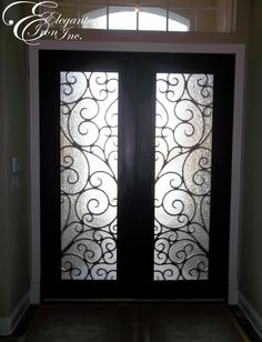 Wrought iron front door. Iron Front Door, Double Front Doors, Spanish Style, Entry Doors, Wrought Iron, Home Projects, Exterior, Home Decor, Simple