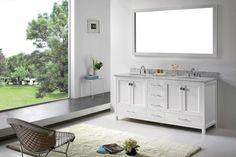 Caroline Avenue 72 Inch Double Bathroom Vanity Cabinet Set in White - #VanityCabinetSet #VanitySink #VanitySinkCabinet #bathroomfurniture #bathroomvanity #bathroomdecor #luxurybathroom #sink #HomeDecor #InteriorDesigner #HomeDecorating #interiordesign #furniture #efurnituremart #HomeDecorator #decor#roomdecorating - eFurnitureMart, eFurniture Mart