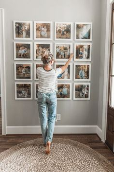 Unique Ways To Display Your Photos In Your Home :: Southeast Nebraska Family Photographer - dirtroadphotography.com Apartment Walls, Decorate Apartment, Girls Apartment, Apartment Therapy, Family Wall Decor, Photo Wall Decor, Unique Wall Decor, Home Living Room, Living Room Designs