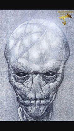 Stargate Ra Alien drawing