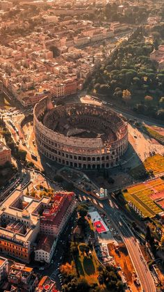 Aerial view of Coliseum ~ Rome, Italy Photo: Congrats! - Best Places to Visit X Italy Map, Rome Italy, Italy Travel, Places To Travel, Places To See, Travel Destinations, Travel Trip, Time Travel, Beau Site