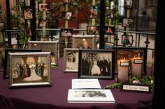 Memory table with memorial candles. Must have many of my mom's beautiful wedding photos, so that she can be there too!