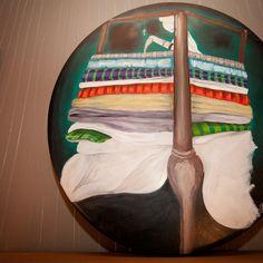"""Princess Pleasure"", diameter 60, Acrylic on Wood, 2012    drunkenrabbit.jimdo.com"
