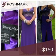 Purple Prom Dress LOVE this dress! Super comfortable! It's purple, open back, lots of beading! The straps clasp in the back to make it look criss-crossed. Dresses Prom