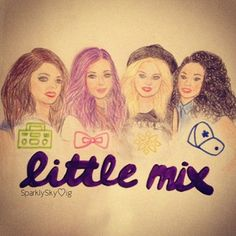 Drawing of Little Mix