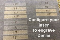 Picture of Setup Your Laser To Engrave Denim