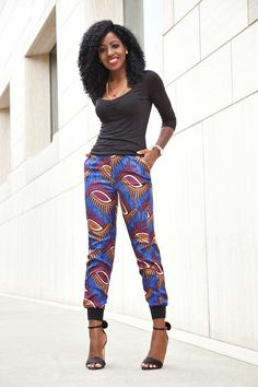 Quarter Sleeve Ruched Blouse + Ankara Print Joggers  Blouse (H&M-old): Similar styles here | Pants: Available here or here (love this color too) | Shoes: Oscar Tiye Minnie Sandals. Fashion By Style...