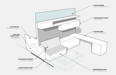 How to build a fold out guest bed / office nook