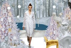 "CHRISTMAS DECORATION TREND 2015, ""Feminine"" soft pink/white, pinned by Ton van der Veer"