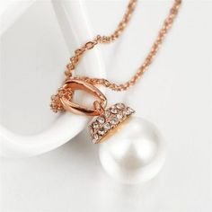 kaulakoru-AC1005 Trendy Jewelry, Women Jewelry, Gold Necklace, Pearl Earrings, Other Accessories, Cool Designs, Rose Gold, Jewellery, Color