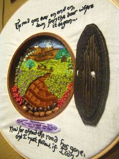Hobbit Hole hoop Embroidery Swap R9- Not just thread! (SO Mar 5) - ORGANIZED CRAFT SWAPS