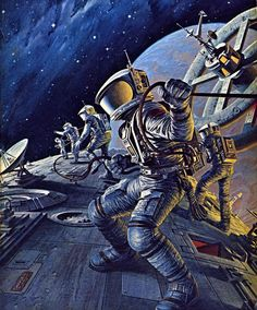 Darrell K. Sweet - Space Cadet, 1978, from The Science Fiction Gallery
