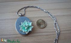 Vintage pozsgás növény medál (MentaJade) - Meska.hu Pendant Necklace, Vintage, Earrings, Jewelry, Fashion, Ear Rings, Moda, Stud Earrings, Jewlery