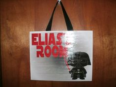 Personalized Hanging Wall Plaque Star Wars Darth Vader Bedroom Sign
