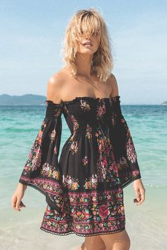 Spell and the Gypsy Hotel Paradiso Bell Sleeve Mini