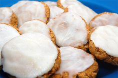 GF Pumpkin Spice Cookies - almond and coconut flour & sugar free icing recipe!