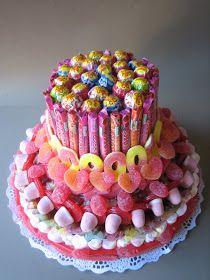 ¡Qué bruta soy! Para hacer esta tarta, compré más de 6 kilos de gominolas! jajaja! Había que verme cuando volvía del súper cargada a tope! ...