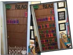 "A classroom ""bookshelf"" that can show the books that the class is reading throughout the year. What a fabulous way to have the entire class show what they are reading!"