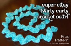 Easy Crochet Curly Scarf