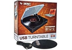 $14.99 3/16/2012 Only. Vibe Sound USB Turntable - Convert Vinyl Records to MP3 w/ Simple One Touch Controls & Dust Cover
