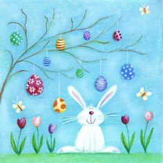 Ileana Oakley —  Easter Tree & Bunny (700×700)
