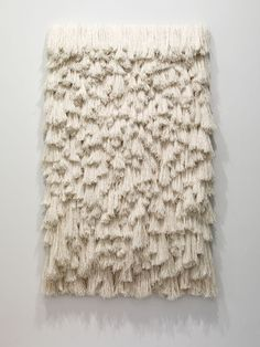 This could be a cool textural sculpture. The texture reminds me of the rugs that have the tassels on the ends. I really like the layering aspect of this piece.