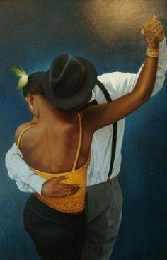 Listen to the best Kizomba shows Love Dance, Dance Art, Black Love Art, My Black Is Beautiful, Beautiful People, African American Art, African Art, Painting Love Couple, African Paintings