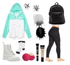"""Casual school day"" by bambamsampson ❤ liked on Polyvore featuring beauty, Dr. Martens, Marika, Brooks Brothers, Eos, Kate Spade and MAKE UP FOR EVER"
