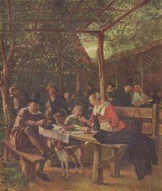 De herbergtuin, 3e kwartaal van de 17e eeuw