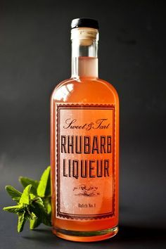 DIY rhubarb liqueur recipe