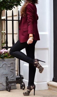 Pretty maroon blazer.
