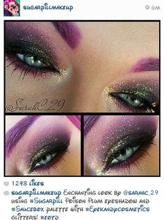 Sugar pill glitter makeup