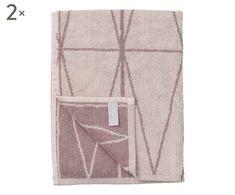 Set di 2 asciugamani Terry malva