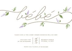 french country baby invitation designs   baby shower invitations - French Countryside by Lehan Veenker