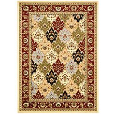 Lyndhurst Collection Multicolor/ Red Rug (8' x 11')