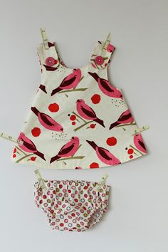 pinafore dress and diaper cover