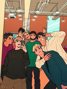 Haikyuu Funny, Haikyuu Fanart, Haikyuu Ships, Hinata, Anime Manga, Anime Guys, Love Selfie, Bokuaka, Kagehina