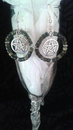 Serpentine Beaded Pentagram Dangle by SpeakingofWitchWands on Etsy