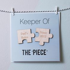 'Keeper Of The Piece' Personalised Magnets Card