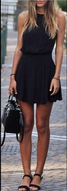 Vestido Curto - Preto