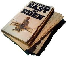 More or less how my copy ended up. [East of Eden. John Steinbeck.]