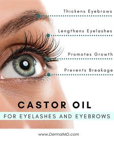 pick up a small amount of castor oil by dipping a cotton swab gently into the oil. delicately run the cotton swab along the top of your lash line, taking great care to not allow any of the oil into your eye (oil that gets in your eye could be extremely irritating and should be washed out immediately with water Castor Oil Eyelashes, Eyebrow Growth Serum, What Is Great, How To Grow Eyelashes, Cotton Swab, Eyebrows, Water, Top, Gripe Water