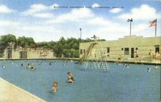 Municipal Swimming Pool as it was when I grew up.