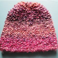 Homespun Thick and Quick Garter Stitch Hat Pattern for the Knifty Knitter Round Loom | LulaBelle Handicrafts