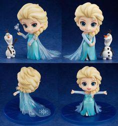 Elsa chibi em 3D muito linda e fofa!! *0*