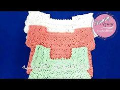 كروشيه فستان أطفال بالصدر المربع بغرزة المروحة خطوة بخطوة/الجزء الثانى - YouTube Crochet For Kids, Crochet Baby, Crochet Top, Crochet Necklace, Girls Dresses, Children, Women, Dresses Of Girls, Young Children
