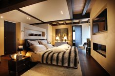 Yeah, I'd never leave || Modern, cozy bedroom, The Chalet, French Alps