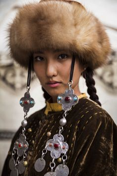 -The Atlas of Beauty- | Before her performance in a traditional show, in Bishkek, Kyrgyzstan.