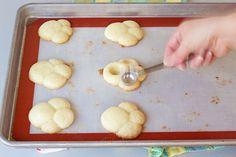Bunny Paw Thumbprint Cookies thebearfootbaker.com